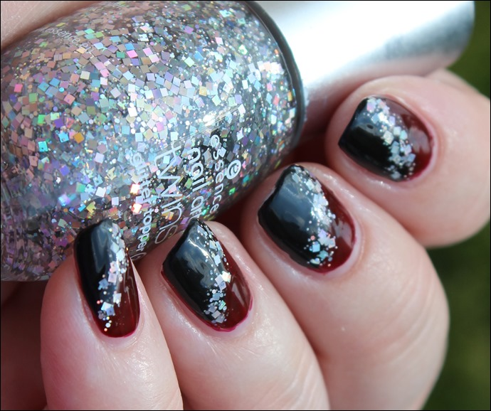 Bordeaux Glitter Nail Art 06