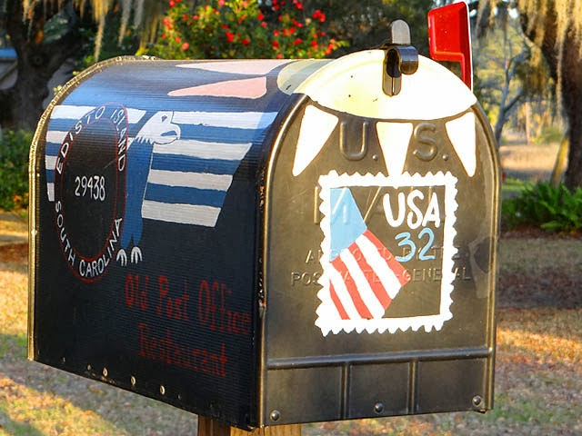 Edisto Island Old Post Office Restaurant mailbox