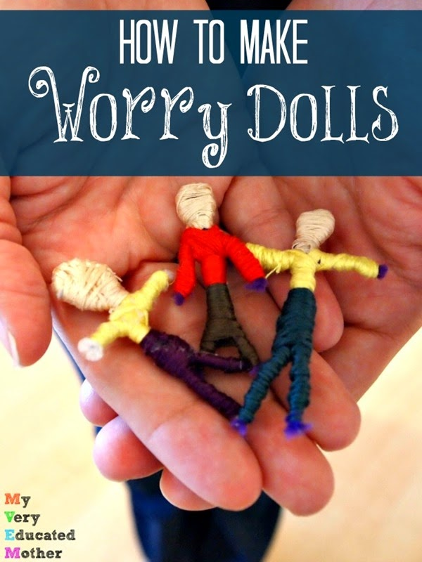 Make a quick set of worry dolls to help with nightmares! via @mvemother