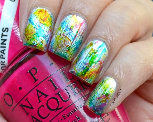 OPI Color Paints Distressed Nail Art Swatch Review (4)