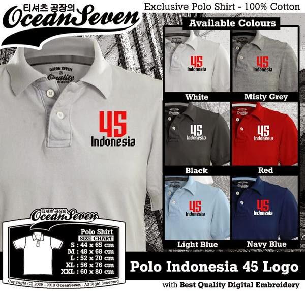 Polo Indonesia 45 Logo distro ocean seven