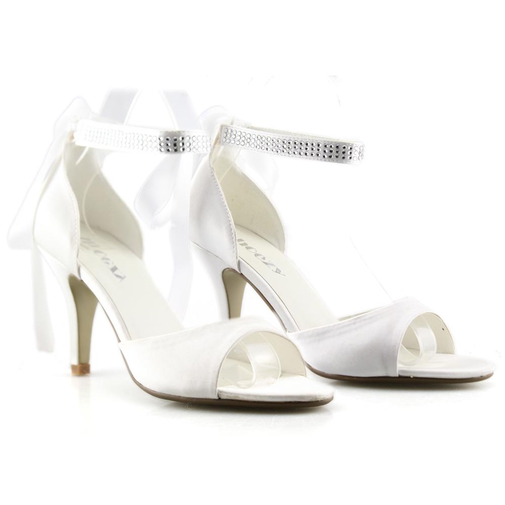 SHOEZY Fashion bridal rhinestones lace heel sandals  pro Wedding Shoes