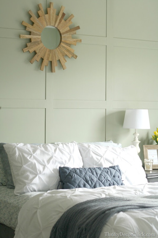 DIY paneled wall treatment