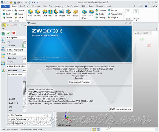 ZWCAD ZW3D 2016