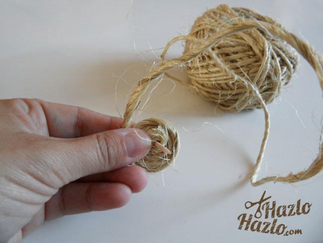 Hacer un salvamanteles de cuerda