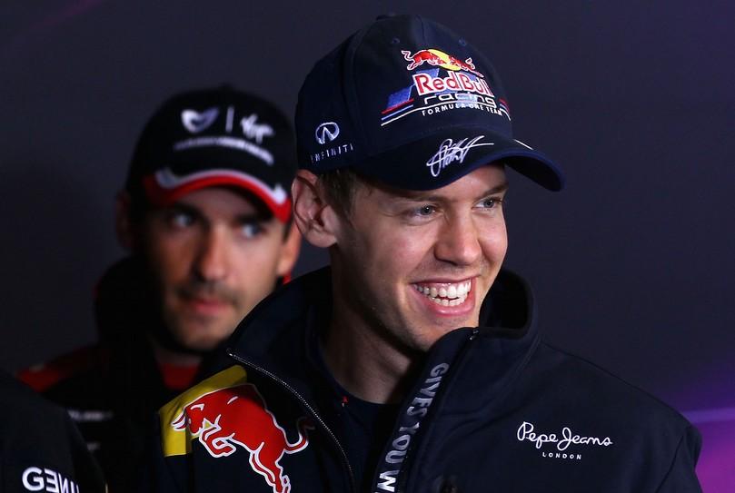 Себастьян Феттель и Тимо Глок на пресс-конференции Нюрбургринга на Гран-при Германии 2011