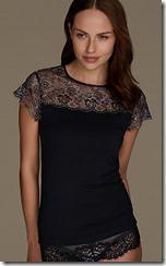 M&S Collection Heatgen vest with metallic lace detail