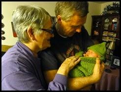 Grandma and Grandpa admire granddaughter DSC02485