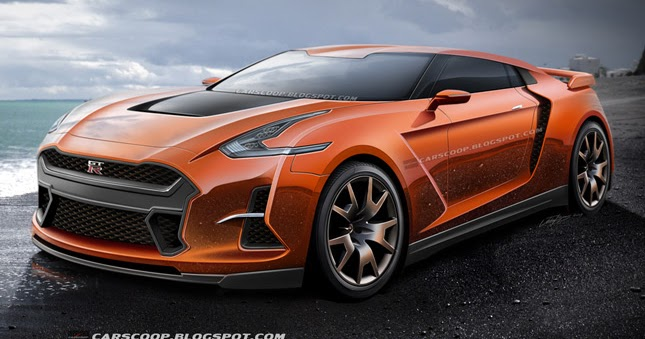 Future Cars Carscoop S Vision Of The 2017 Nissan Gt R