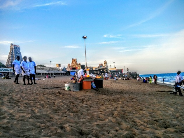 The Sea Shore Tiruchendur Temple
