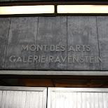 mont des arts galerie ravenstein in Brussels, Brussels, Belgium