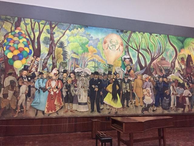 Conociendo m xico sue o de una tarde dominical en la for Un mural de diego rivera