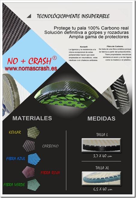 Protege tu Pala 100% Carbono/Kevlar Fibras reales No+Crash: www.nomascrash.es