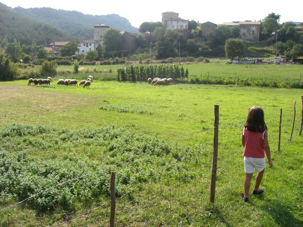Vista de Uriz desde el camino del rio por Luis