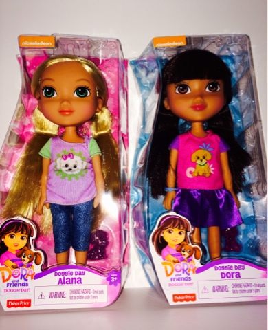 Dora and Friends Dolls Alana and Dora Doggie Days
