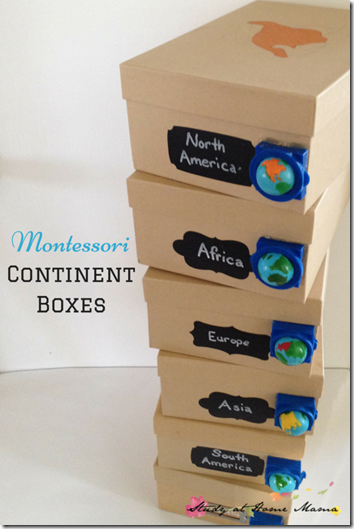 Study Geography with Continent Boxes - such a fun, hands on learning about geography for preschool, kindergarten, 1st grade, 2nd grade, and 3rd grade students.