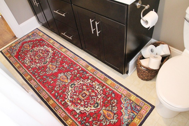 Bathroom Refresh Rug Placement