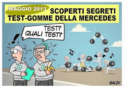 Mercedes проводят секретные тесты Pirelli - комикс Baldi