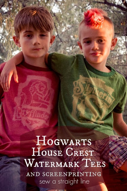 harry potter crest watermark tees sew a straight line