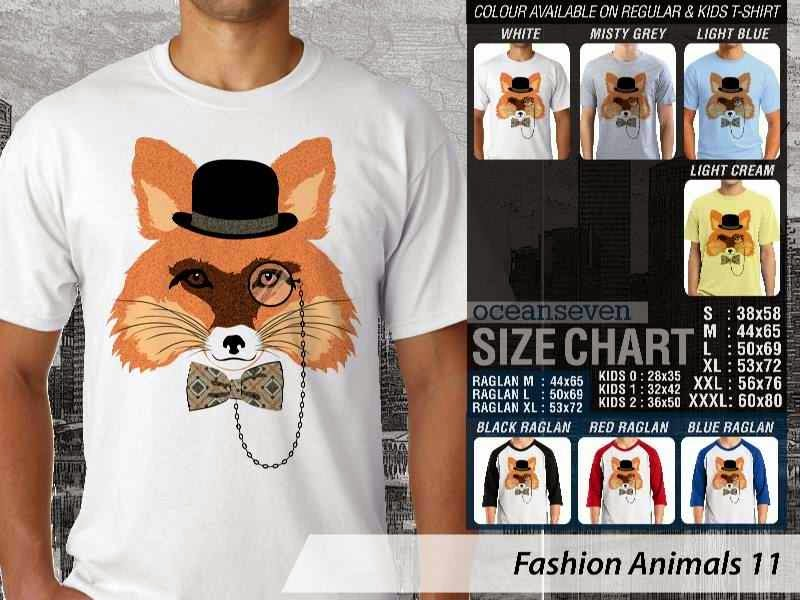 Kaos Fashion Animals 11 Binatang Kucing Cat distro ocean seven