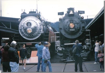 SP #4449 & SP&S #700 at Union Station in Portland, Oregon on May 11, 1996