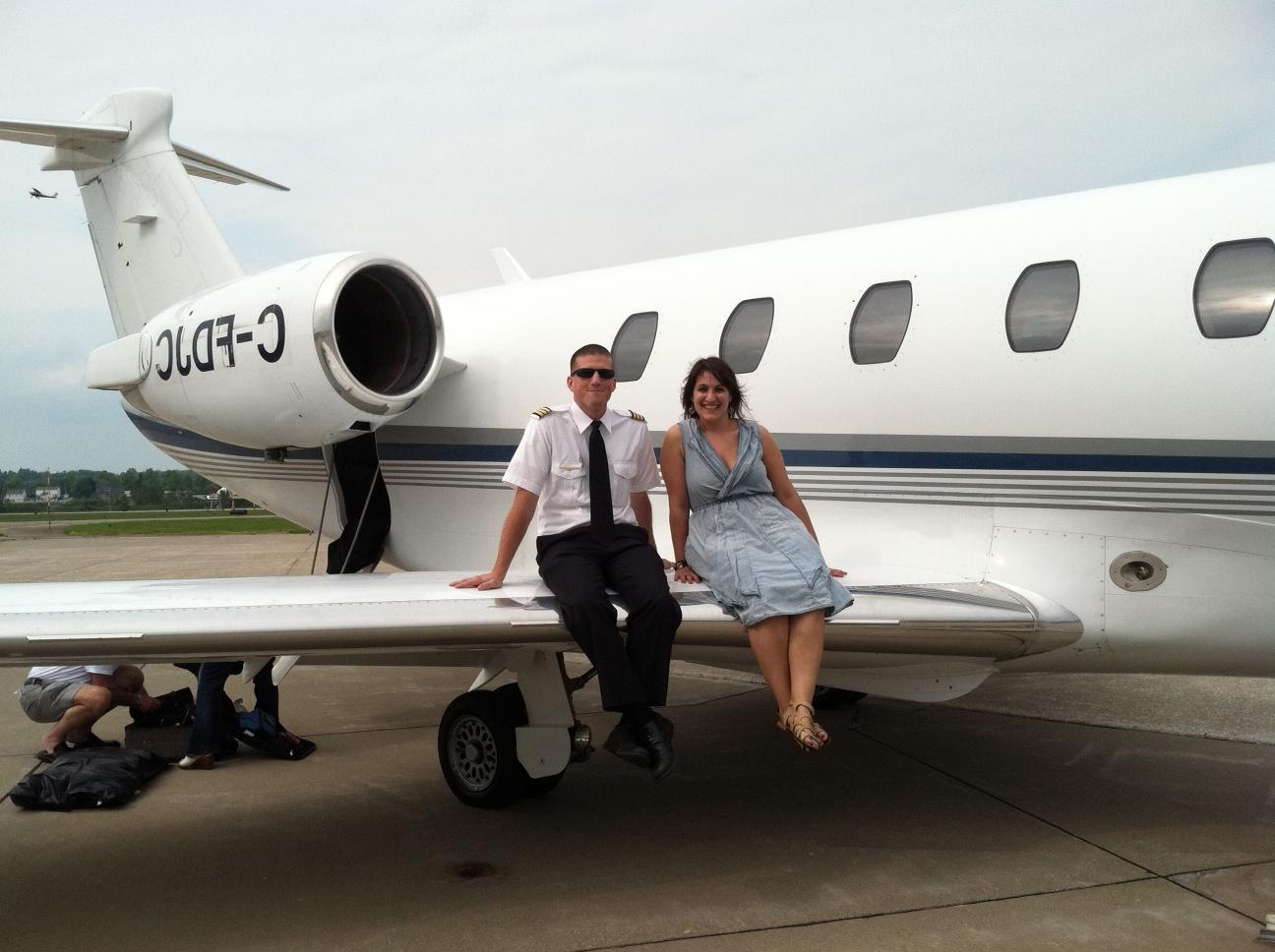 cute pilot wedding