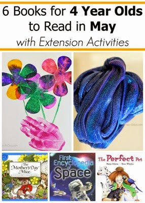 May Book Picks for 4 Year Olds with Extension Activities