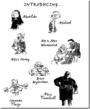image from Matilda, by Roald Dahl