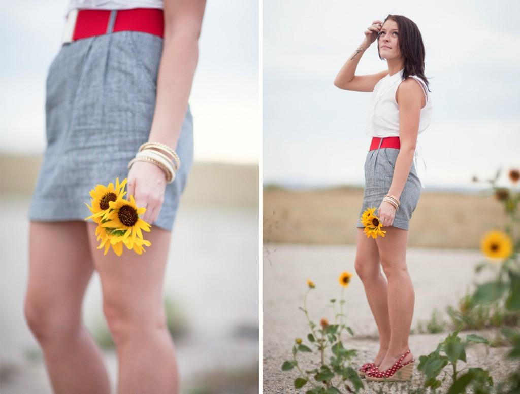sunflower bridal photos