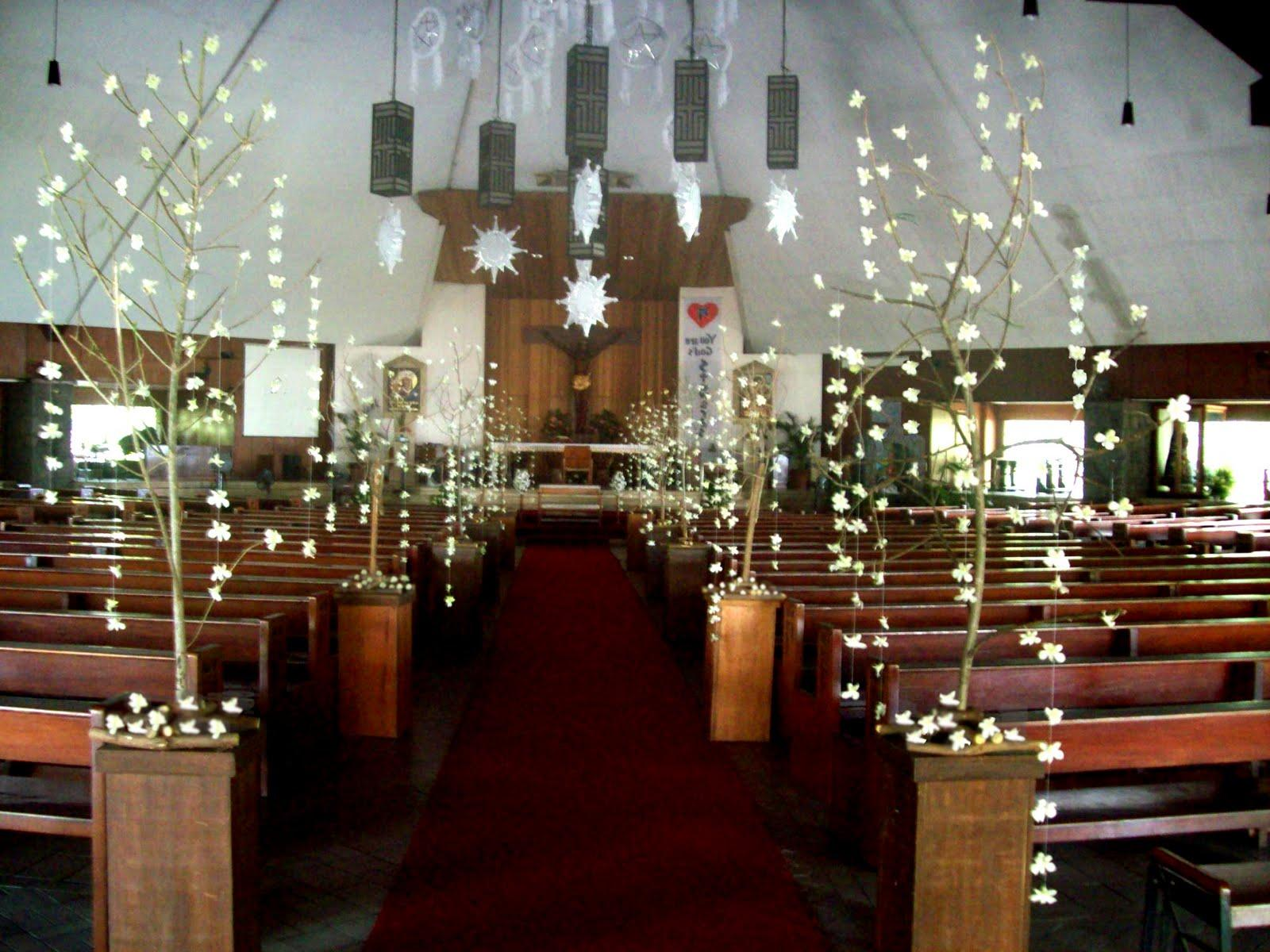 Church Wedding Arrangements