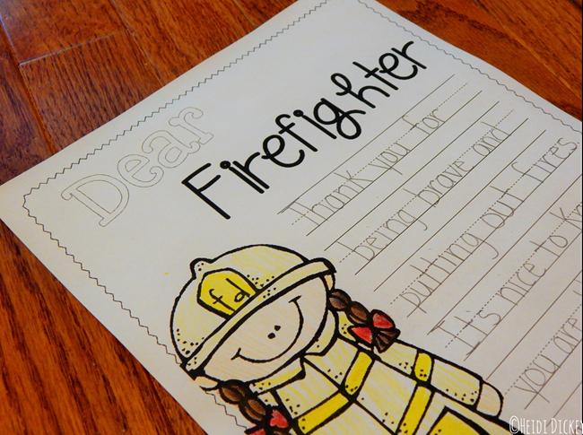 Dear Firefighter Letter