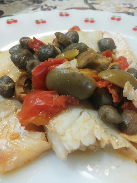 merluzzo olive e capperi