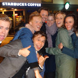 the late night party crew at Het Leidseplein in Amsterdam, Noord Holland, Netherlands