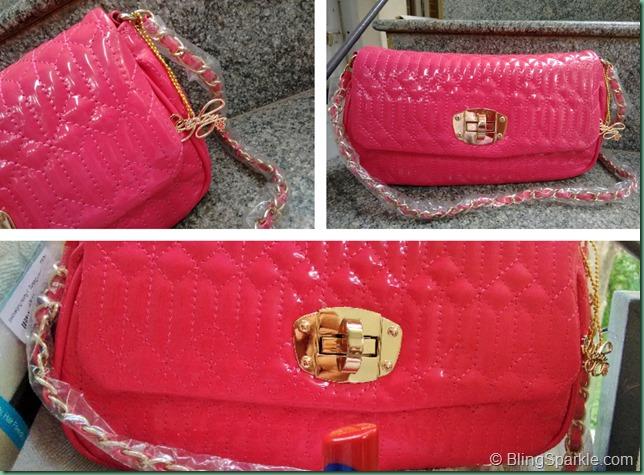 Lengloy sling bag pink Diana Korr Flipkart