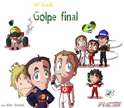 анимешная картинка Noe Izumi по финальному этапу сезона - Гран-при Бразилии 2011