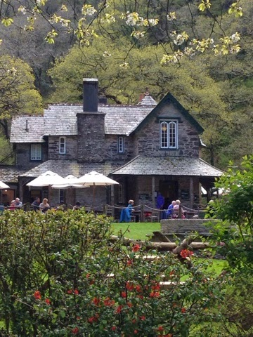 the National Trust-owned fishing lodge at Watersmeet, Devon