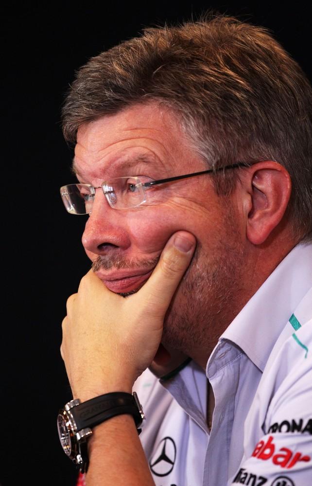 Росс Браун на пресс-конференция Гран-при Бельгии 2011 в пятнцу