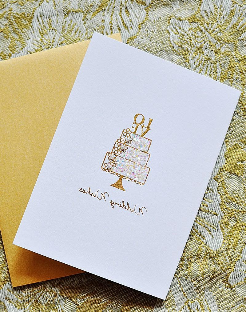 Wedding Wishes - Single Greeting Card