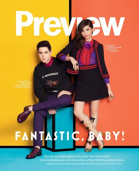Alden Richards and Maine Mendoza for Preview November 2015 2