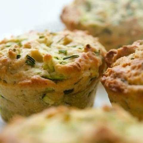 Zucchini Muffins And Cottage Cheese
