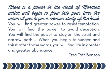 Book of Mormon Read-a-Thon Mutual Activity Quote
