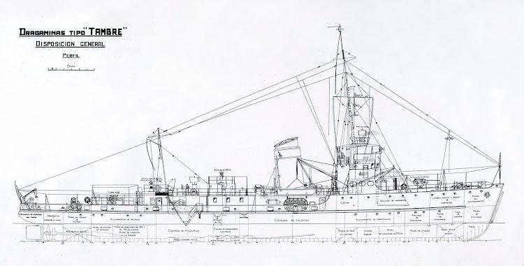 Plano de los buques de la 1ª serie de dragaminas. Revista Ingenieria Naval.jpg