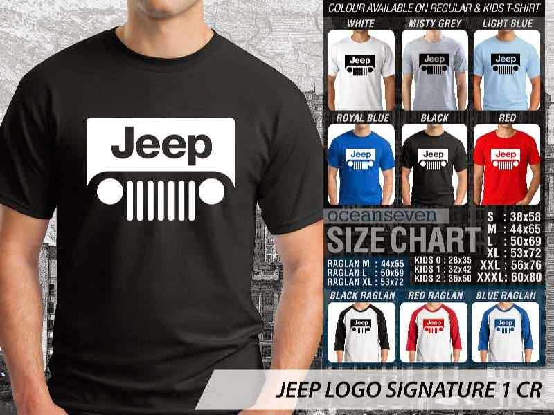 jual kaos jeep Logo Signature 1 distro