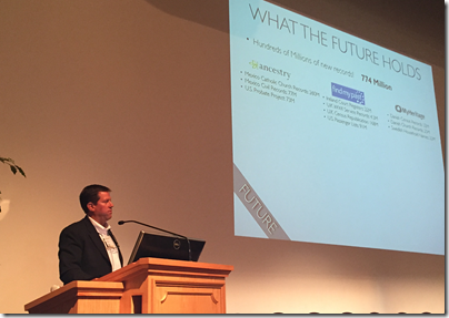 Robert Kehrer talks at the 2015 BYU Conference on Family History and Genealogy