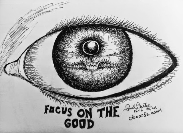 Positive Reminder Drawing by Paul Carter