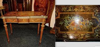 Ломберный стол ок.1860 г. Раскладной стол. Украшен маркетри и позолоченной бронзой.