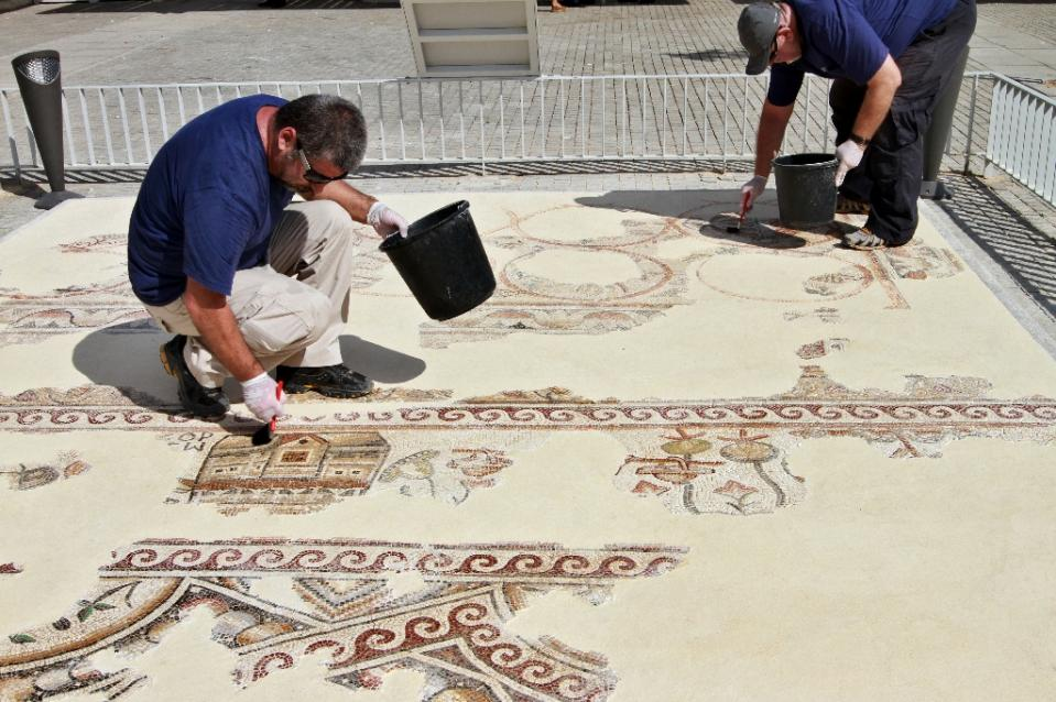 Image of A Thousand Year Old Mosaic Map Found in Israel is Now Revealed to the World