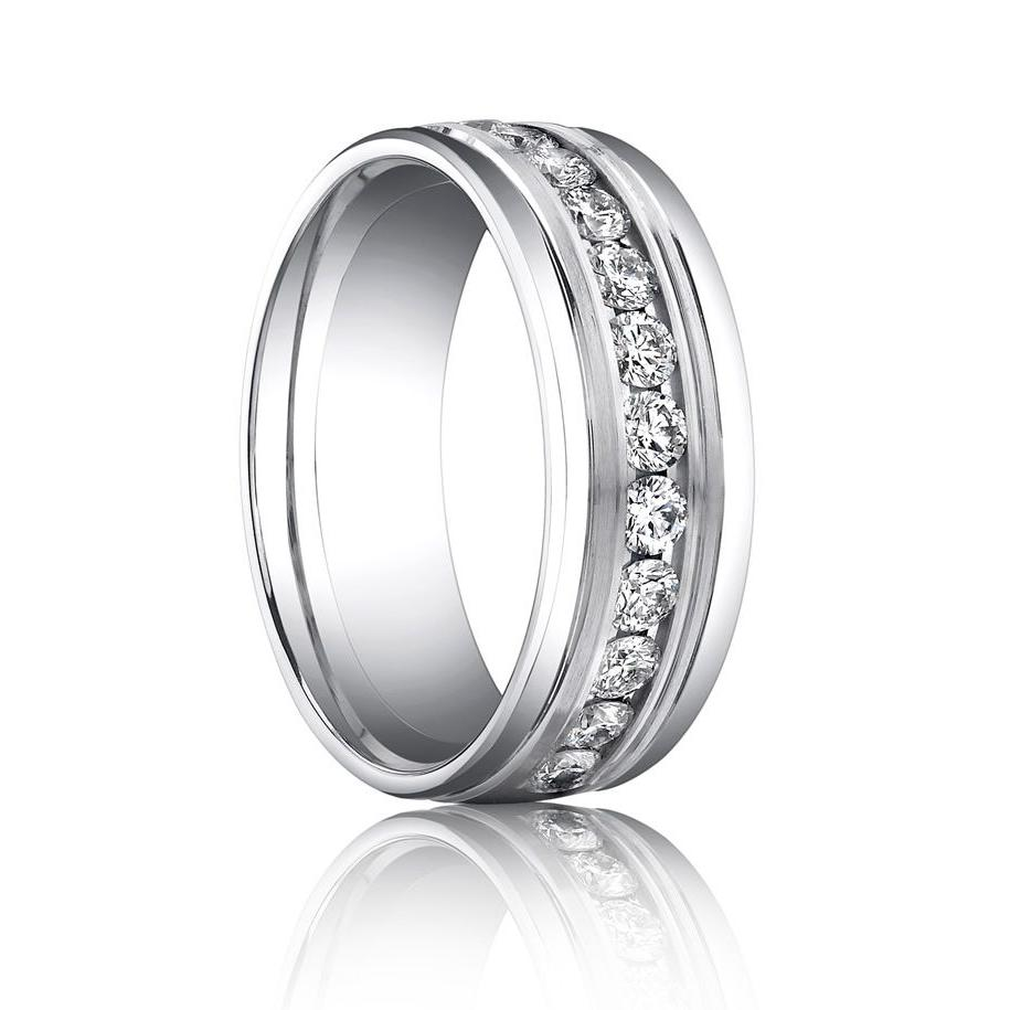 14k White Gold 3mm Slightly Domed Comfort Fit Wedding ring -  90.00