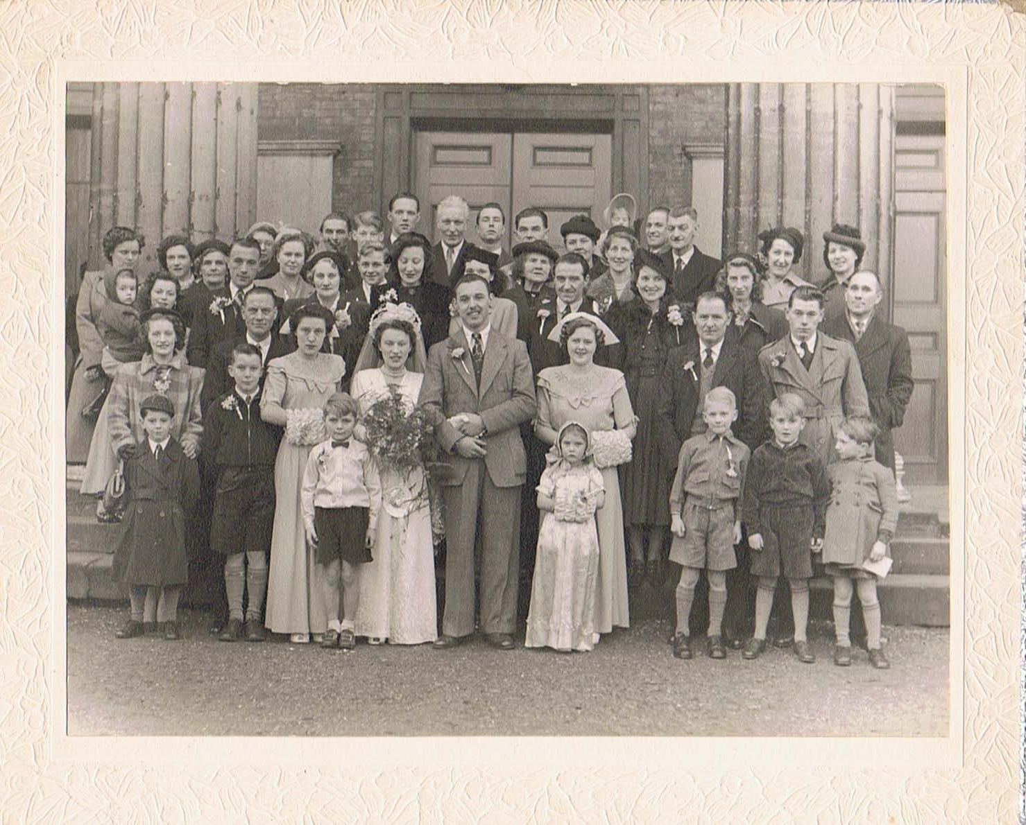 A wedding group portrait 1930s