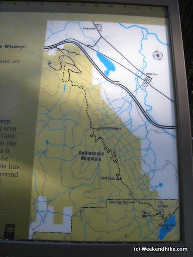 Great Map near the ledge -Rattlesnake Mountain Trail Hike - hike report on www.weekendhike.com